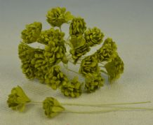 LIME GREEN GYPSOPHILA / FORGET ME NOT Mulberry Paper Flowers